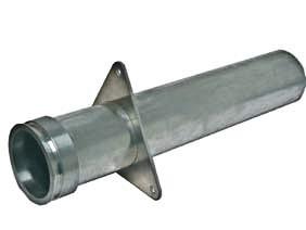 Rohr, ALU, DN 100, gerade, Bördelkante, Flanschplatte