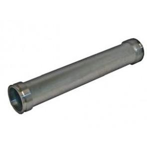 Rohr, ALU, DN 100, gerade, Bördelkante L/R, Verdrehschutz