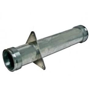 Rohr, ALU, DN 100, gerade, Bördelkante L/R, Flanschplatte