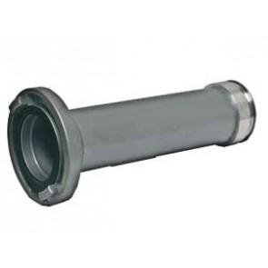 Rohr DN 100, Kupplung verschweißt, gerade, Bördelkante, Verdrehschutz