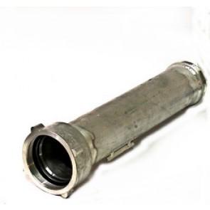 """Rohr DN 100, gerade mit Überwurfmutter 4""""  Innengewinde , 4"""" Außengewinde L / R, Verdrehschutz"""